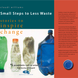 Why should we live plastic free, and how? Small Steps to Less Waste (Book Review)